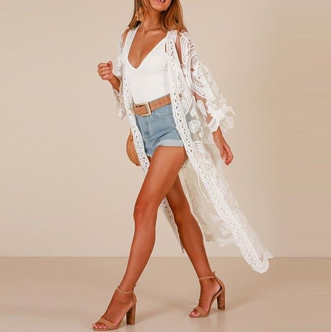 Solide Damen Cardigan Strandkleider Mode Beautynie Aushöhlen vy8nOmNw0P