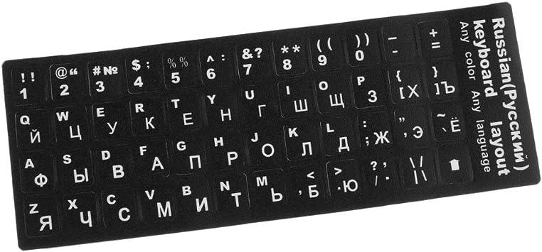 MagiDeal Etiqueta de Teclado Pegatinas Ruso Letras Estándar Diseño de Alfabeto Botón: Amazon.es: Electrónica
