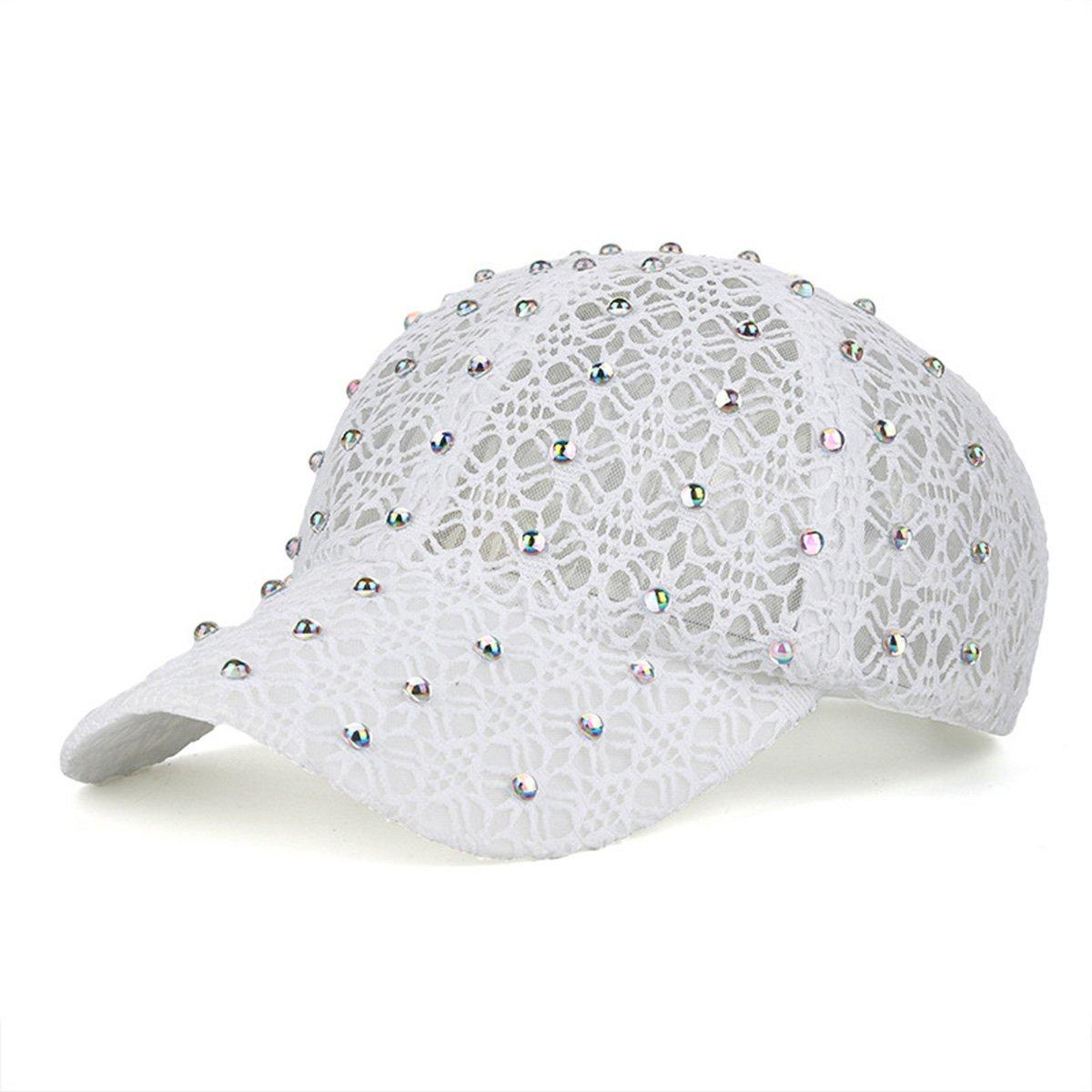 Himozoo Women Fashion Baseball Cap, Luxury Bling Lace Adjustable Sport Baseball Hat