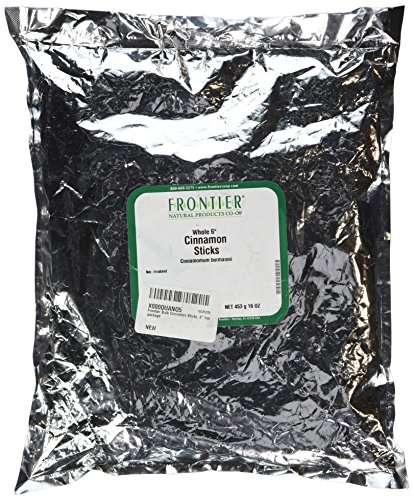 Frontier Natural Products 1lb Cinnamon Sticks, Korintje 6 in. Vera Aa Grade