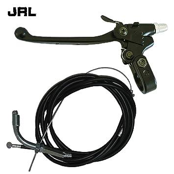 jrl Cable del acelerador Cable de embrague y de embrague Palanca para 49/66/80cc Motor motorizado bicicleta: Amazon.es: Coche y moto