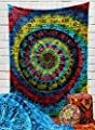 Indian Mandala Elephant Tye Dye Tapestry Wall Hanging