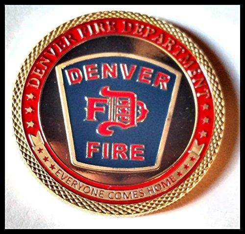 Denver Fire Department Firefighter Challenge Art Coin
