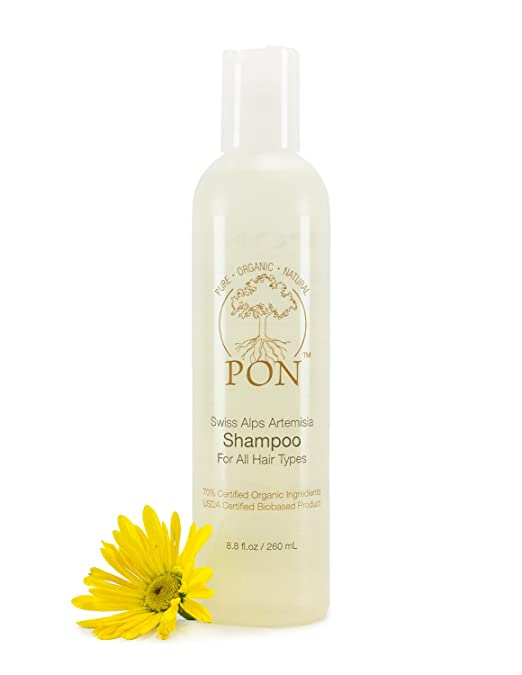PON - Pure Organic Natural - Aloe Vera based Shampoo for All Hair Types, Sulfate and Paraben-Free - 8.8 fl oz
