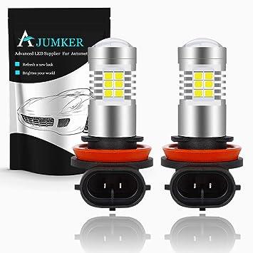 AJUMKER H11 H8 H9 Bombilla LED, Xenon Blanco, Extremadamente Brillante 21 SMD Philips Chipsets
