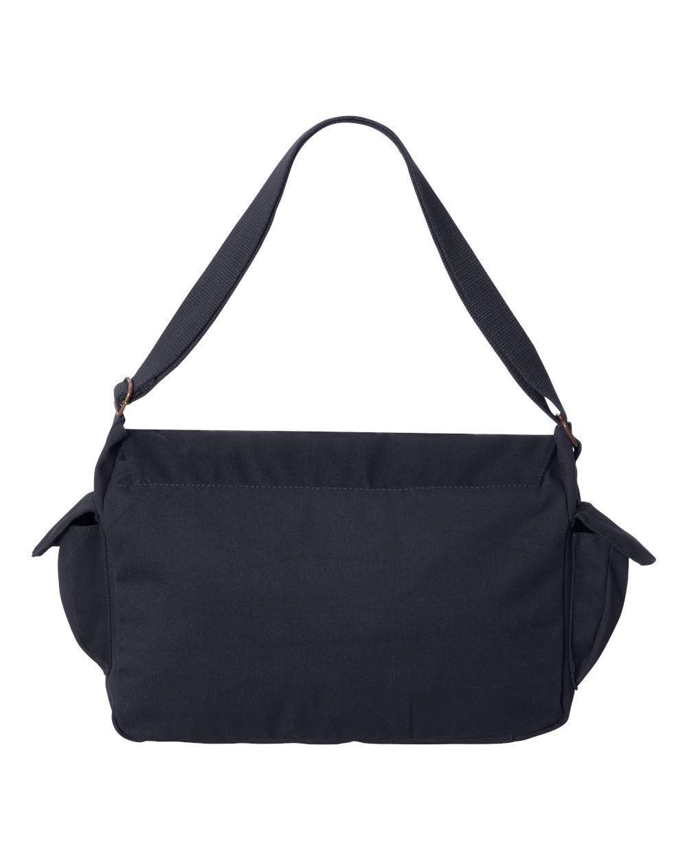 Tenacitee Born in 1943 - Aged Like a Fine Wine Navy Brushed Canvas Messenger Bag by Tenacitee (Image #3)