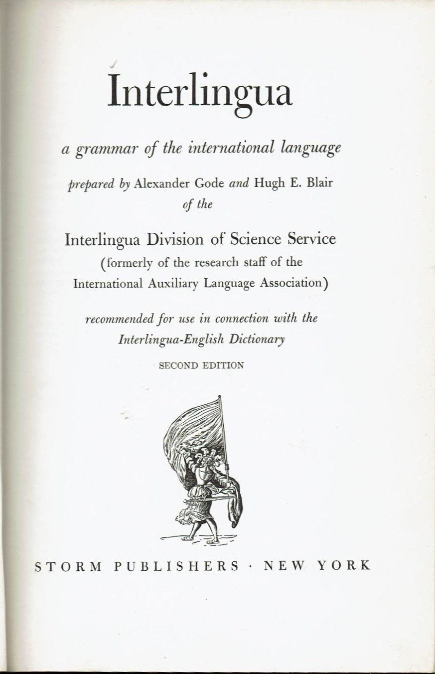 Interlingua - English Dictionary: A dictionary of the International Language