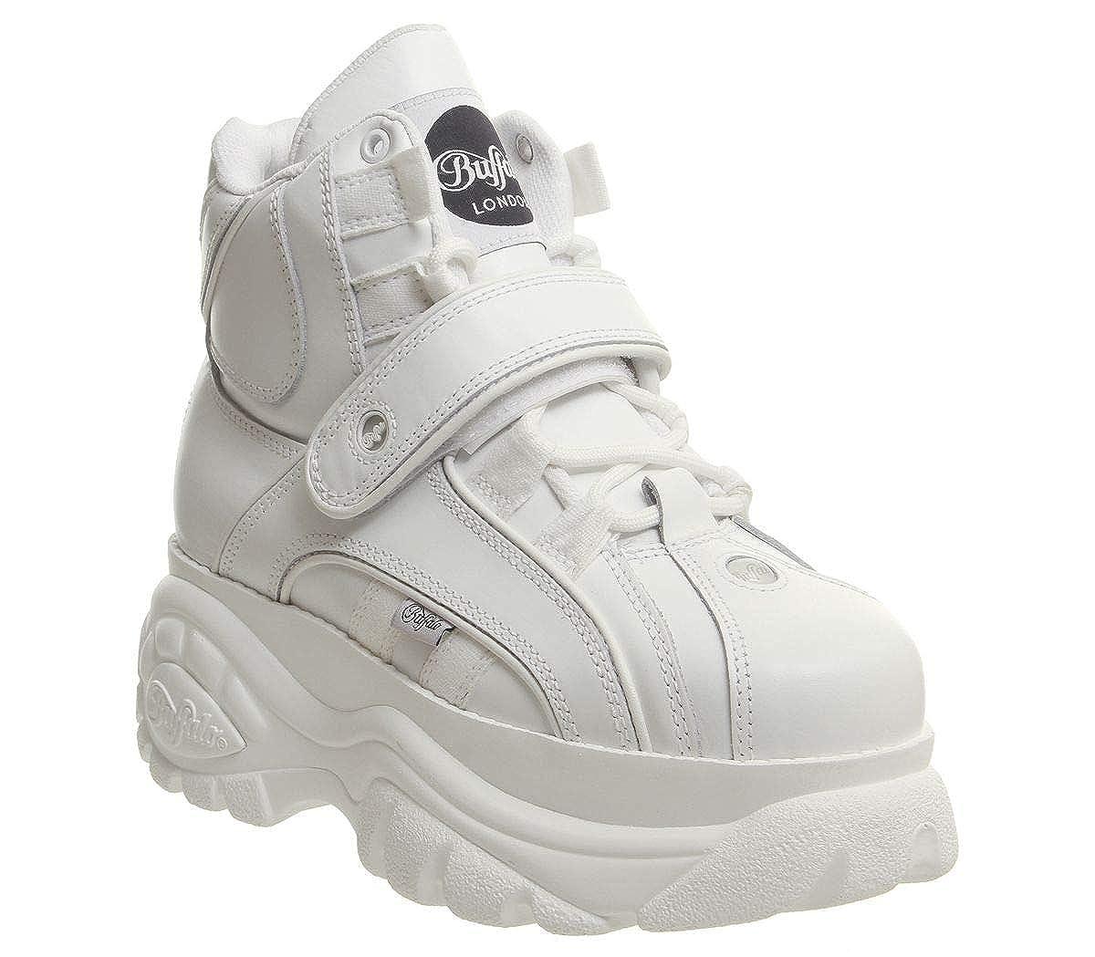 Sneaker Alta Buffalo 1348 in Pelle Bianca: MainApps: Amazon.es: Zapatos y complementos