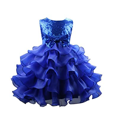 Amazon.com: Amurleopard Girls Princess Pageant Bridesmaids Dresses Multilayers TuTu Dress: Clothing