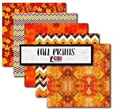 Fall Patterned Heat Transfer Vinyl Autumn Printed Adhesive Vinyl Thanksgiving Themed Vinyl Bundle Pack CSDS Vinyl Bundle Pack Holiday Themed Craft Vinyl Bundle (Heat Transfer Vinyl)