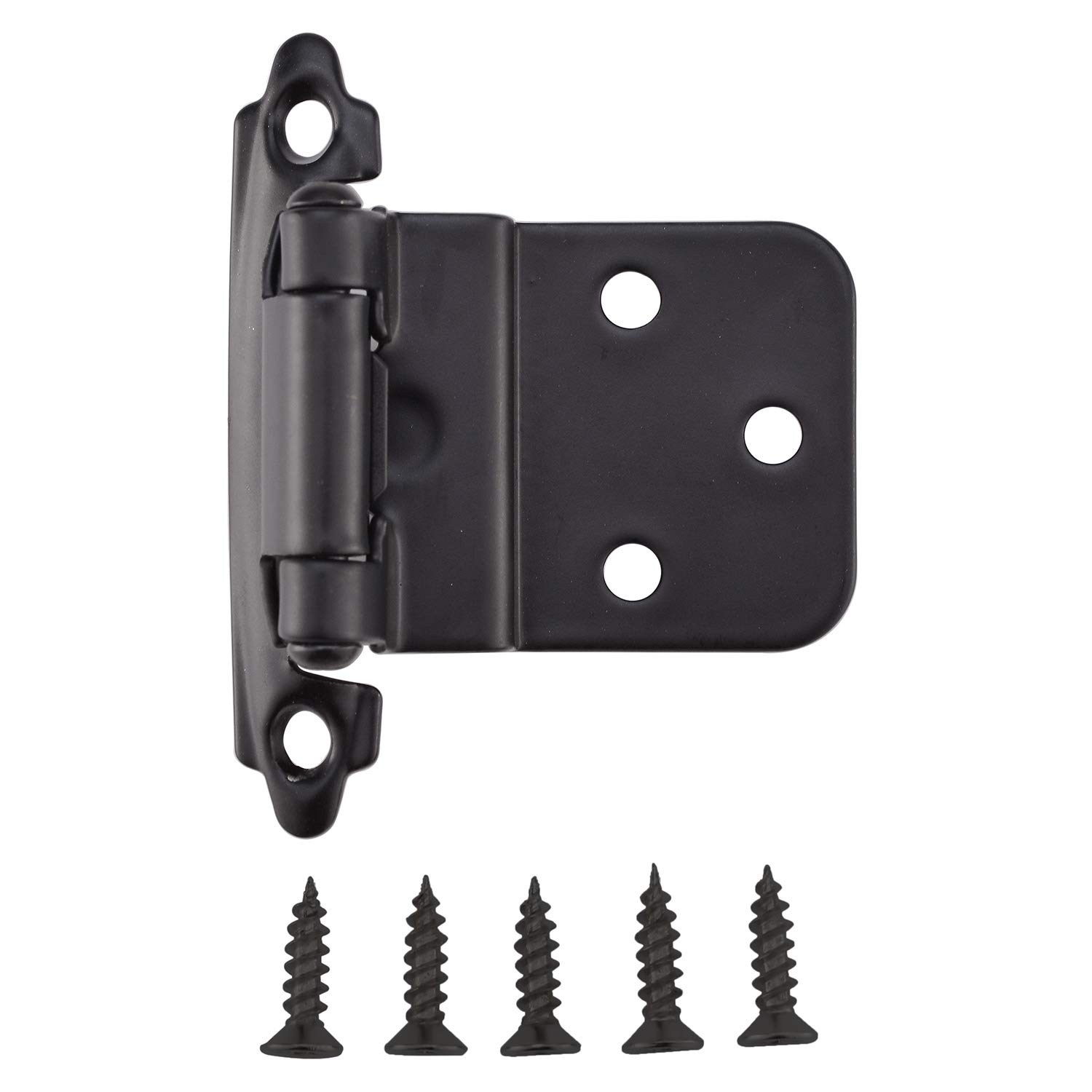 KINGO HOME Face Mount Self Closing Black 3/8'' Inset Cabinet Hinges, 20 Pack by KINGO HOME (Image #6)