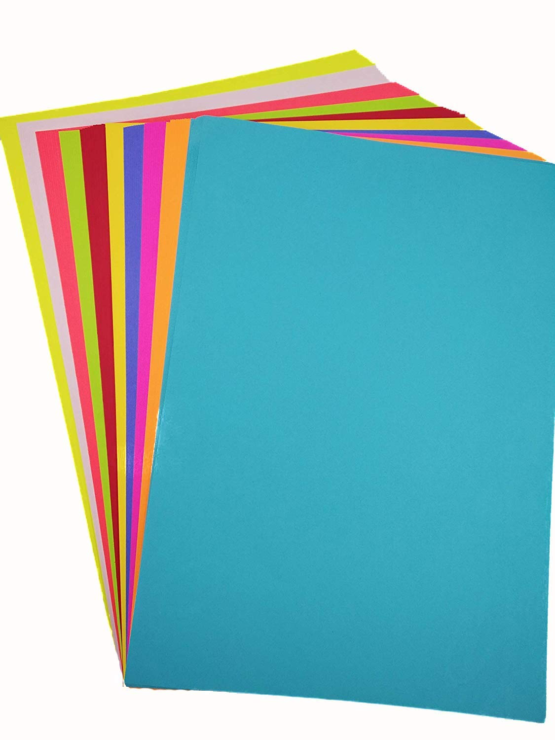 A4 Color Paper Premium Neon Colours Pack of 50 Sheets (10 Colors x 5 Sheets Each Colour) for Art & Craft Work. (50 Sheets) product image