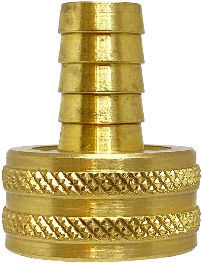 Anderson Metals - 07046-0812 Brass Garden Hose Swivel Fitting, Connector, 1/2