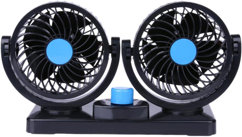 Broadroot 12v 24v Tragbarer Auto Fahrzeug Lkw Kühlender Lüfter Luft Ventilator 360 All Round Justierbarer Kühler 12v Blau Schwarz Auto