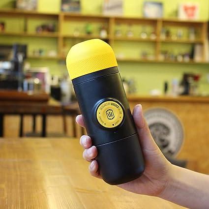 Mini cafetera amarilla de diseño Manual Cafetera de presión manual ...