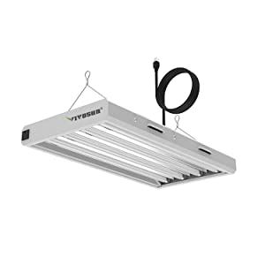 VIVOSUN 6500K 2FT T5 HO Fluorescent Grow Light Fixture for Indoor Plants