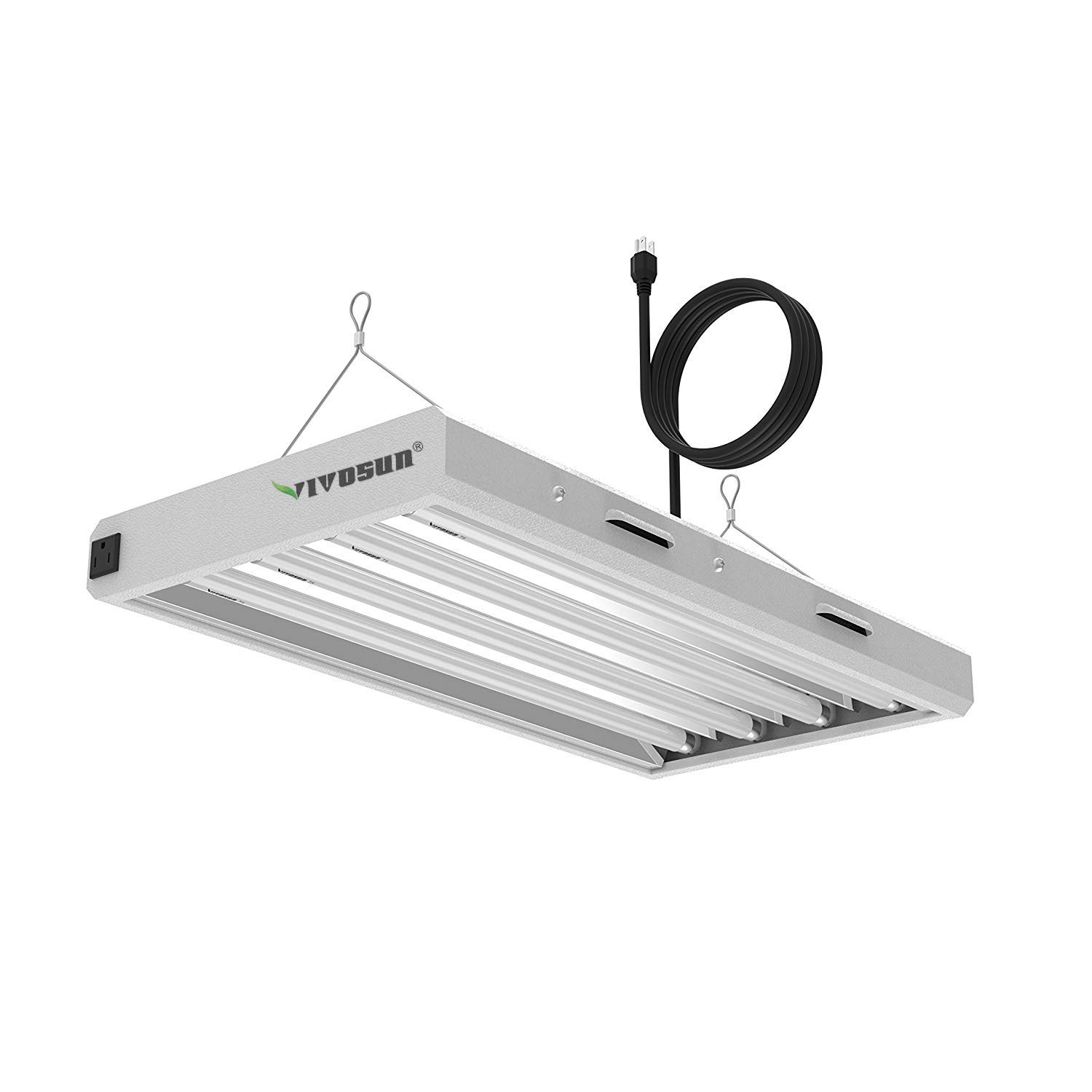 Vivosun 6500k 2ft t5 ho fluorescent grow light fixture for indoor plants ul listed high output fluorescent tubes 4 lamps