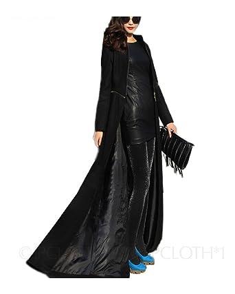 Amazon.com: Tengfu Women's Ankle Wool Coats Full Length Coat Long ...