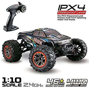Hosim Large Size 1:10 Scale High Speed 46km/h 4WD 2.4Ghz Remote Control Truck 9125, Radio Controlled Off-Road RC Car Electronic Monster Truck R/C RTR Hobby ...