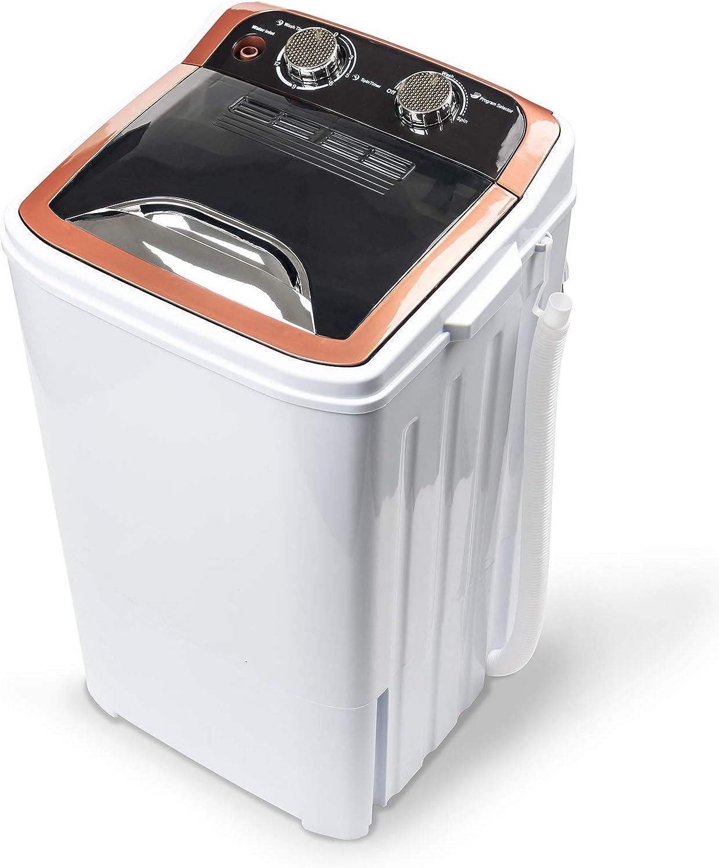Dawoo - Lavadora portátil de 4,4 kg, totalmente automática, con bomba de drenaje y temporizador de control