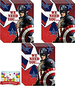 captain america party invitations pack of 24