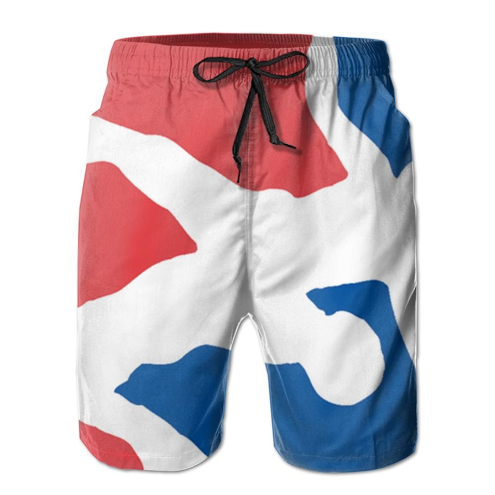 Oct USA Wrestling Logo Drawstring Closure Mens Boardshorts Swim Trunks Tropical Running Board Shorts Jersey