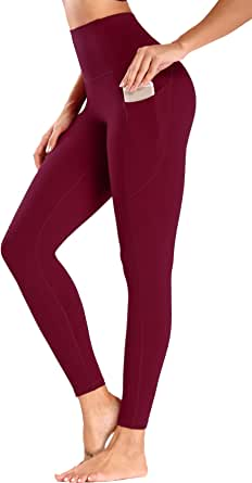 Olacia Workout Leggings for Women High Waisted Soft Tummy Control Leggings with Pockets