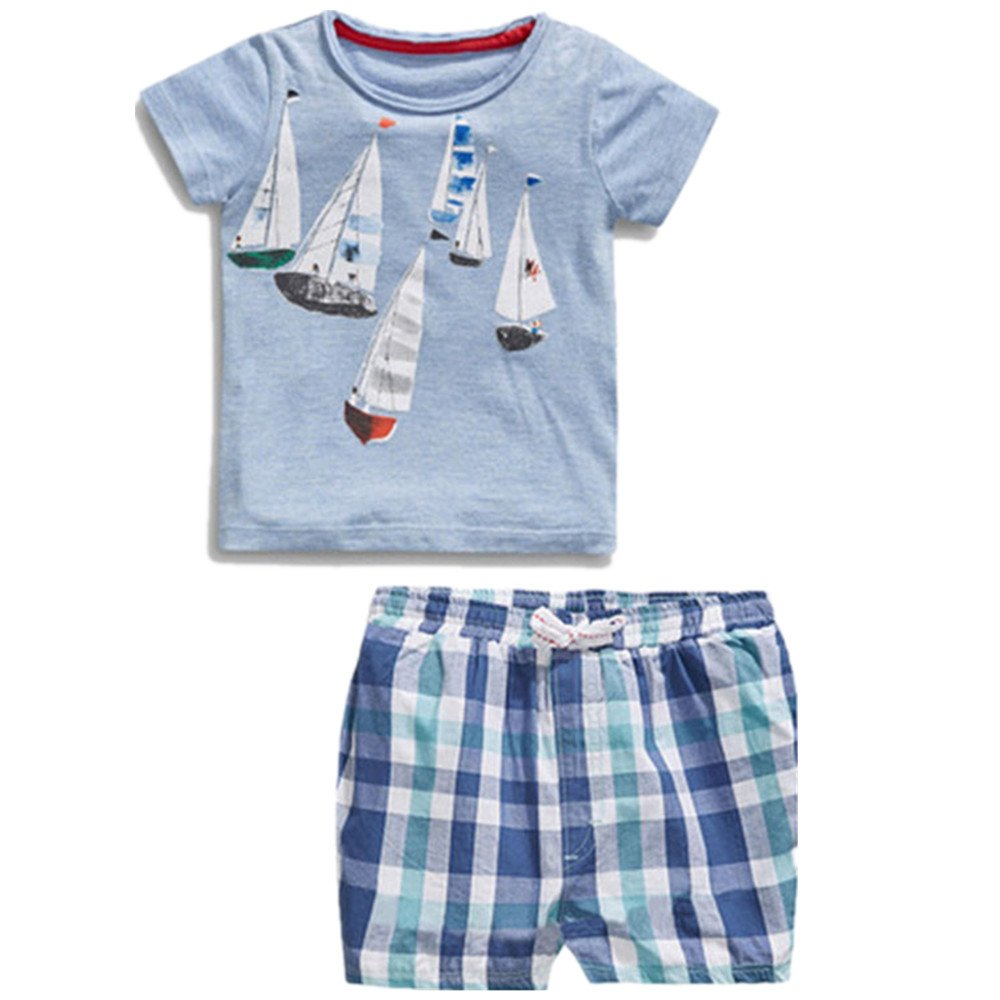 Little Maven Summer Baby Boys 2pcs Short sleeve t-shirt Short pants clothing set