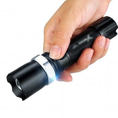 Lightlight Petite Lampe de Poche Led Longue Portée Rechargeable Ultra-lumineuse Auto-défense Étanche Mini Zoom Extérieur à la Maison