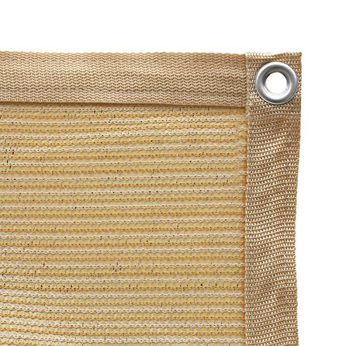 - Shatex 90% Shade Fabric Sun Shade Cloth with Grommets for Pergola Cover Canopy 12' x 12', Wheat