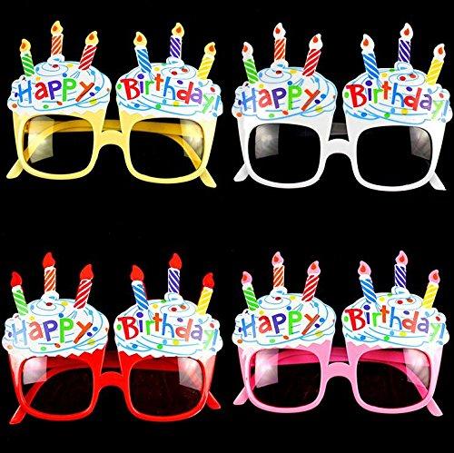 EBTOYS Happy Birthday Candle Sunglasses Novelty Sunglasses for Birthday Gift Party Supplies,4 - Birthday Sunglasses Happy