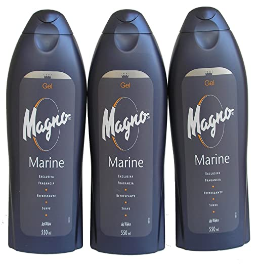3 Bottles of Magno Marine Shower Gel 18.3oz./550ml