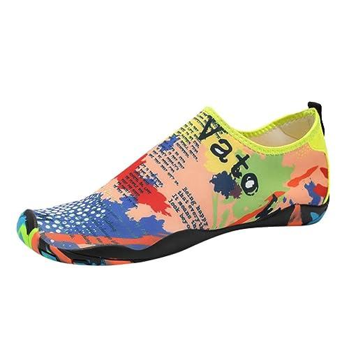 ZARLLE_ Hombre Zapatillas Zapatos De Agua,ZARLLE Las Mujeres De Los Hombres De Agua Al Aire Libre ImpresióN De Patrones De Mapa Yoga Surf Buceo ...