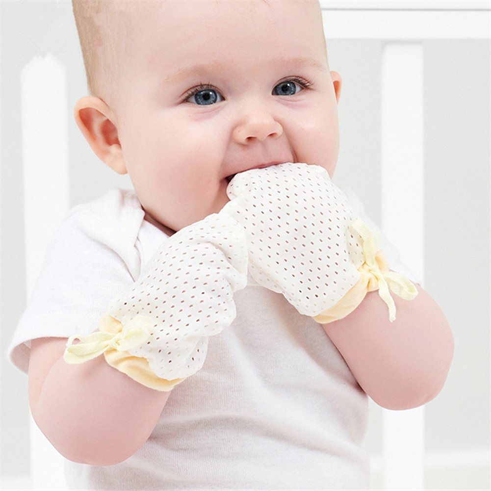 3fe987b5a Amazon.com  Ehdching Pack of 3 Baby Mesh Gloves Cotton No Scratch ...