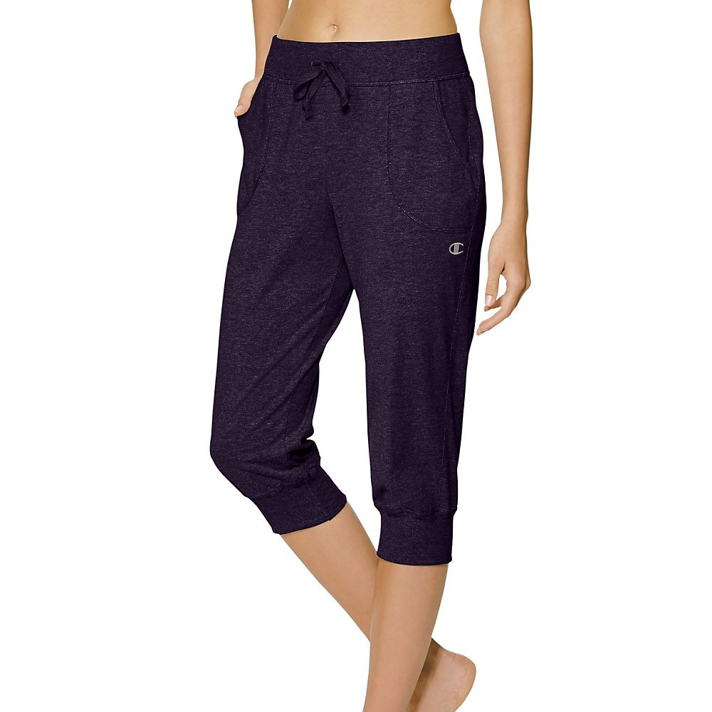 Champion Authentic Women`s Jersey Banded Knee Pants, M7419, L