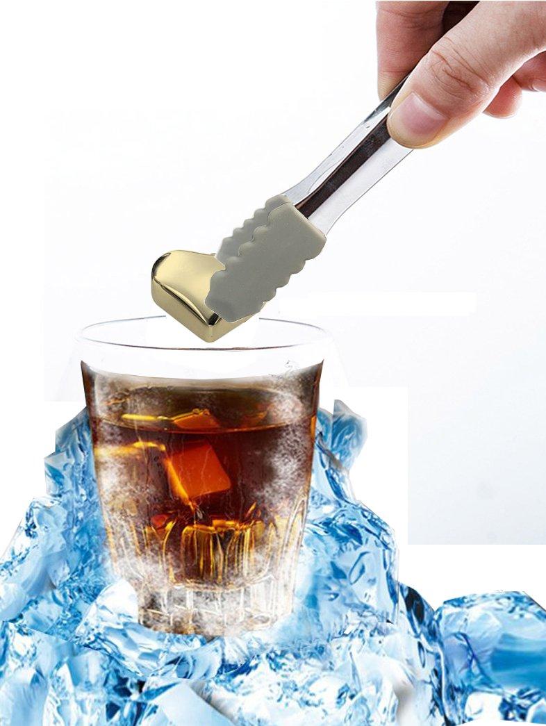 Grandekor Whisky Steine, Edelstahl Whisky Eiswürfel Ice Cubes 6er ...