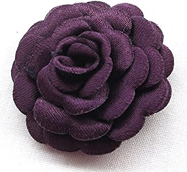 Chenkou Craft Felt Padded Ribbon Flowers Bows Peony Appliques Craft Supplies 12pcs