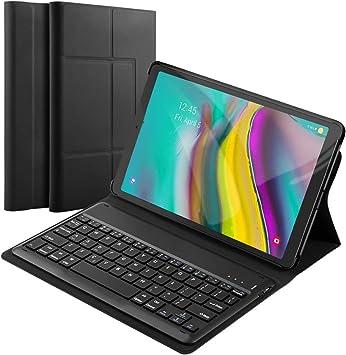 Fusutonus - Funda con teclado para Samsung Galaxy Tab S5e 10.5 T720/T725, diseño QWERTY Funda de teclado desmontable con cojín de apoyo suave para ...