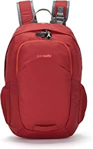 "Pacsafe Venturesafe G3 15L Anti-Theft Daypack - Fits 15"" Laptop, Goji Berry Red"