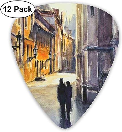 K0k2to Paquete de 12 púas para Guitarra, Estilo Pintura al óleo ...
