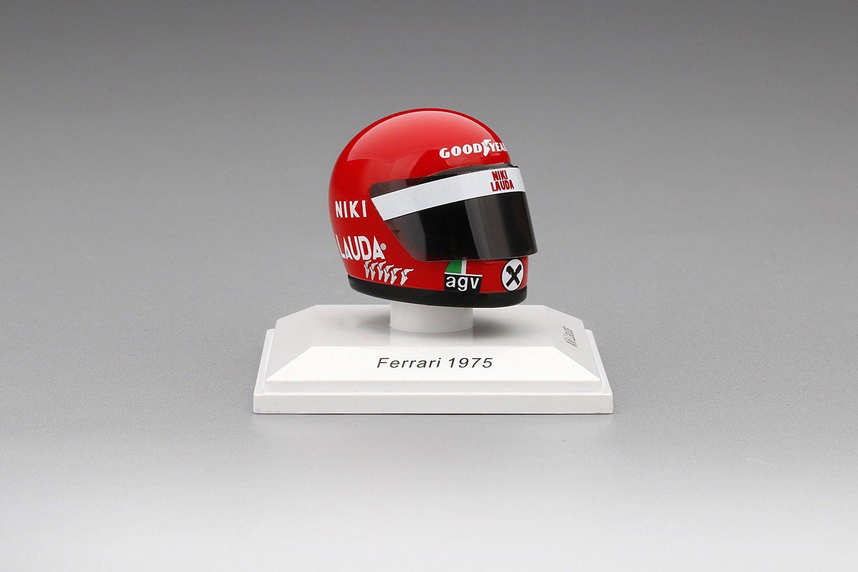 Niki Lauda Helmet Replica Ferrari 1975 1/8 by True Scale Miniatures TSMAC0005