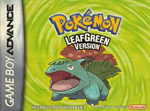 pokemon leaf green gba instruction booklet game boy advance manual rh amazon com pokemon leaf green guide pdf pokemon leaf green mansion walkthrough