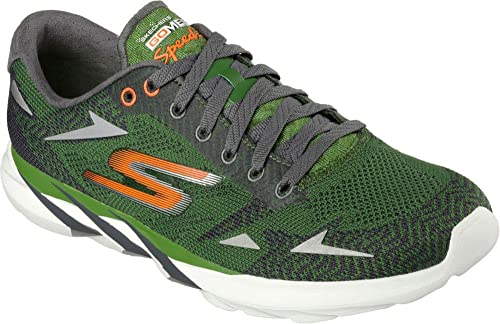 Skechers Mens GOmeb Speed 3 2016 Running Shoe,Green/Orange,US 7.5 M