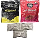 Assorted Panda All Natural Licorice ( Soft Licorice, Raspberry) 7oz. Includes Our Exclusive HolanDeli Chocolate Mints