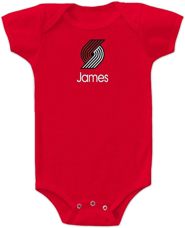 Portland Trail Blazers Custom Baby Bodysuit - Personalized Baby Name Embroidery