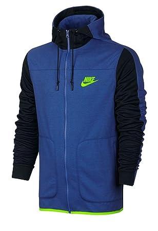 Nike M Nsw Av15 Hoodie Fz Flc game royalblackelectric