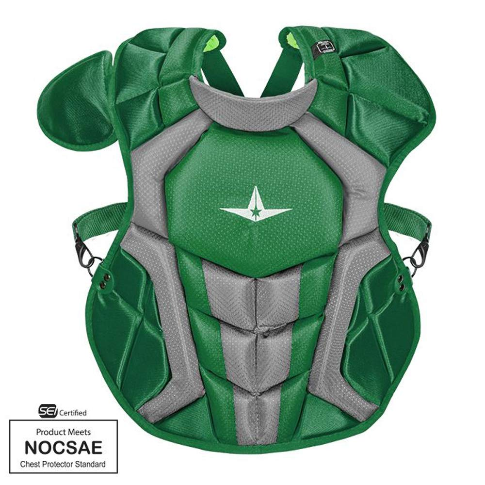 Allstar S7 Axis Chest Protector 12-16 - 15.5'' (Dark Green/Grey)