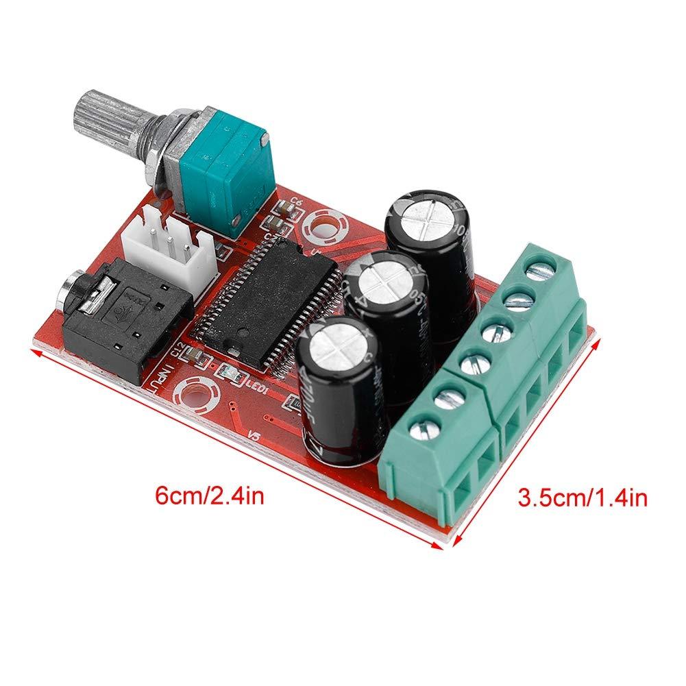 Tarjeta Amplificador Est/éreo Digital de Doble Canal m/ódulo de Clase D 12/W X 2/ Zerone Tarjeta Amplificador de Potencia Digital de Alta Potencia