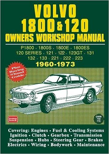 volvo 1800 120 owner s workshop manual 1960 1973 brooklands books