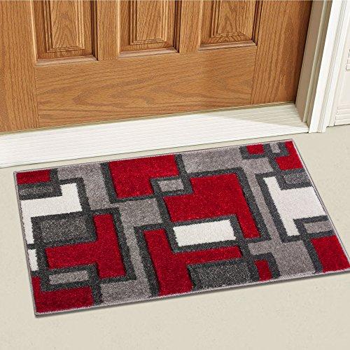 d Imagination Squares Modern Geometric 2' x 3' Mat Accent Area Rug ()